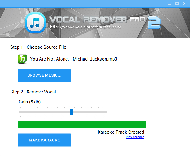 Vocal Remover Pro 2.0 Screen shot